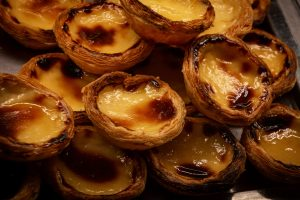 The creamy egg tarts Portugal is known for - pastel de nata