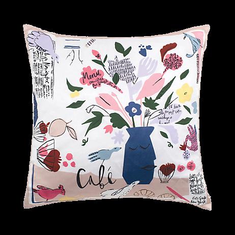 Kate Spade Scribble Flora Café Scene Decorative Pillow