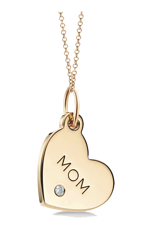 "Tiffany Charms ""Mom"" tag in 18 k gold"