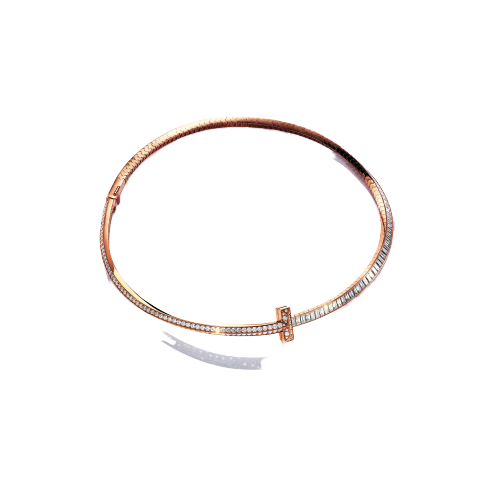 Tiffany T1 diamond necklace in 18K rose gold