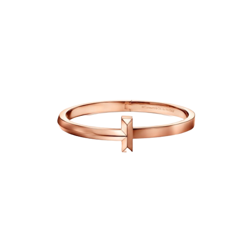 Tiffany T1 wide-hinged bangle in 18K rose gold