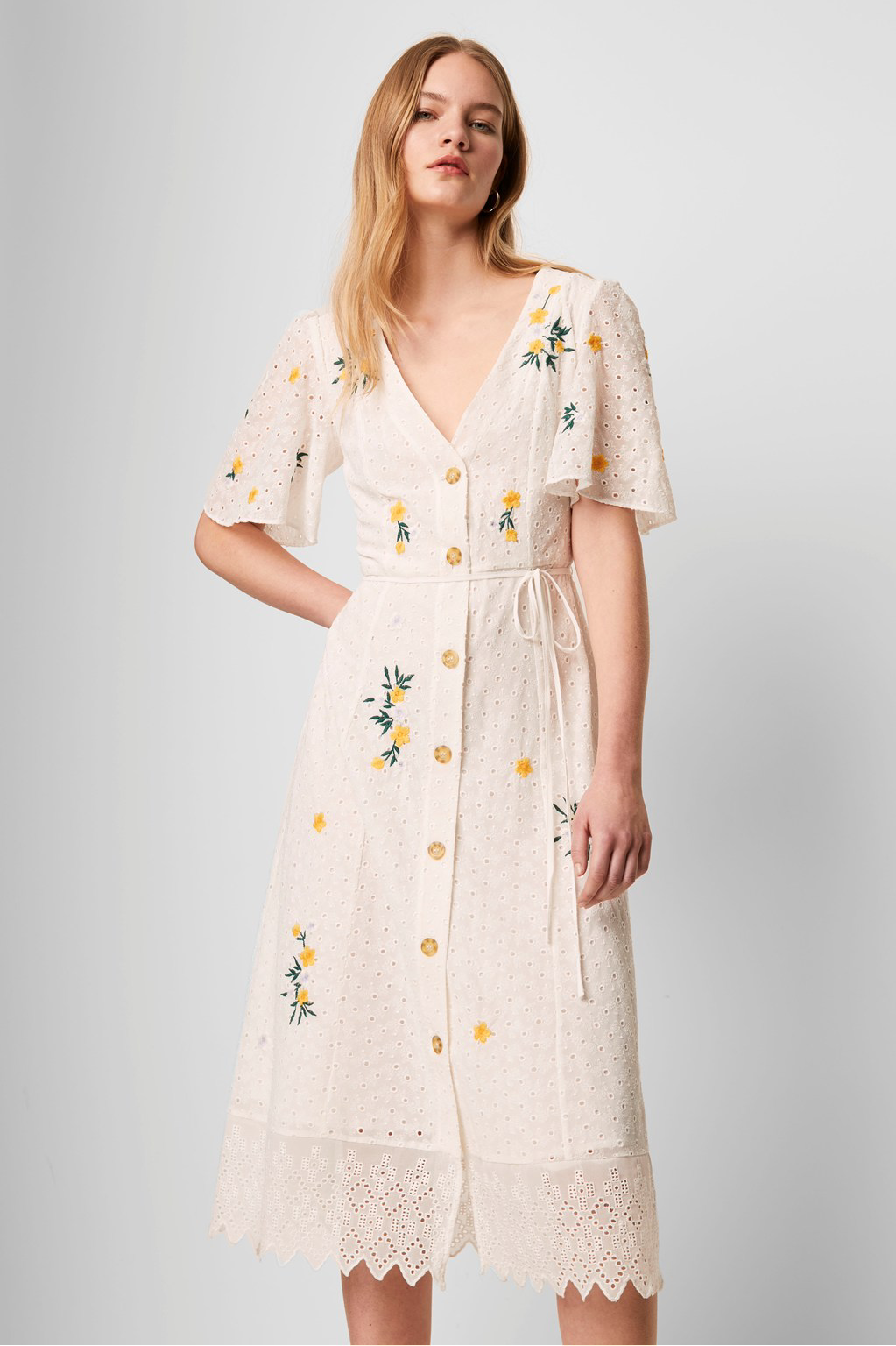 French Connection Eka Embroidered Dress