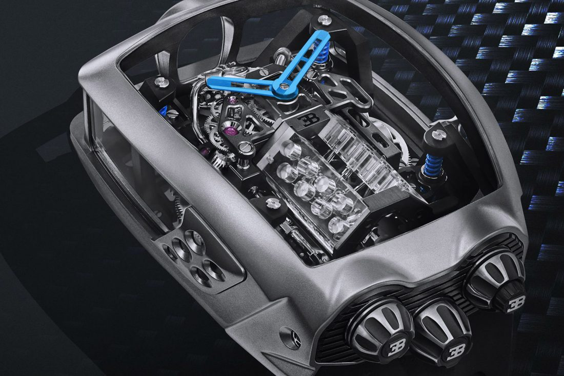 A look at the Jacob & Co. X Bugatti Chiron Tourbillon, priced at $280,000