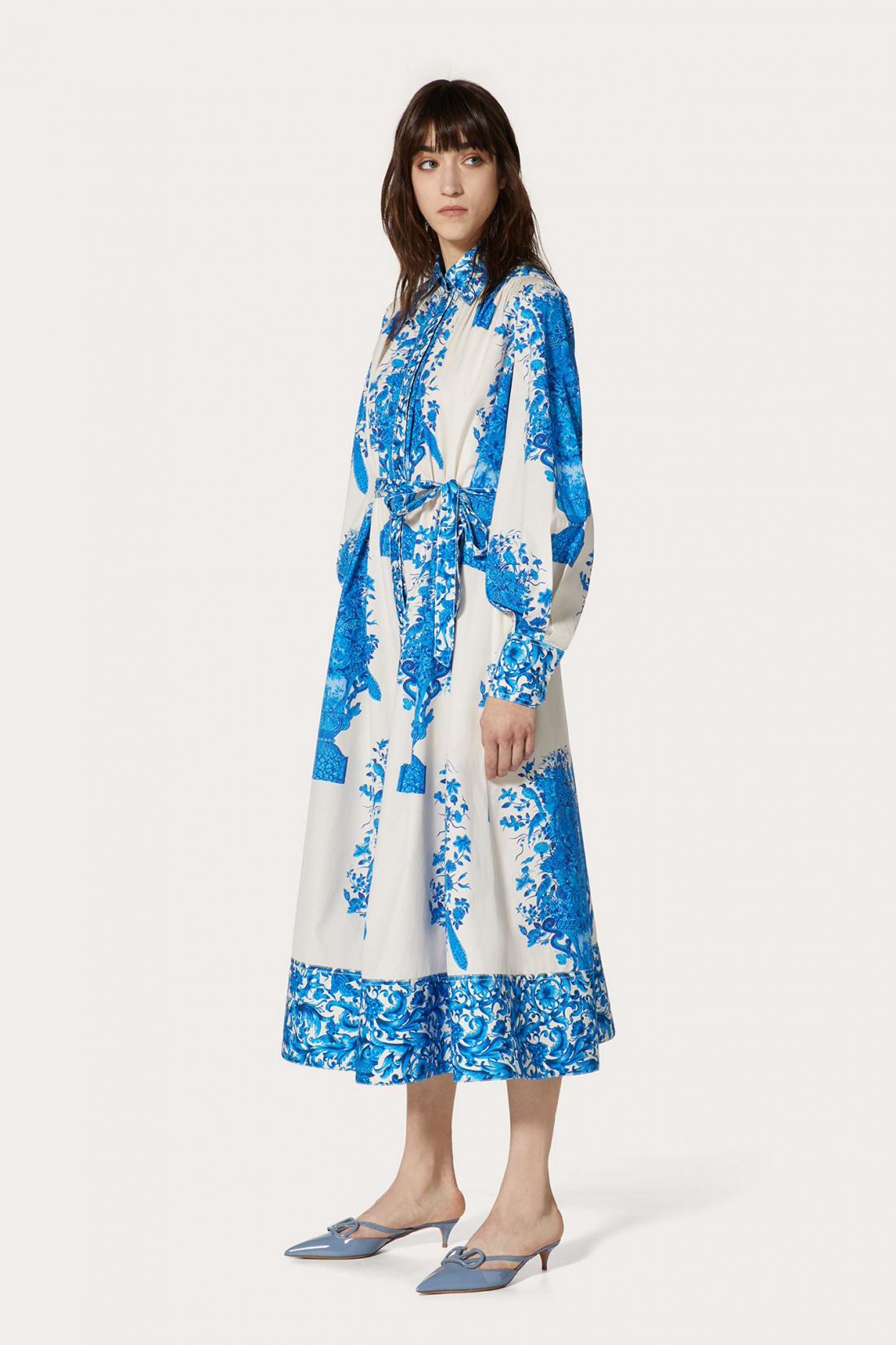 Valentino Printed Poplin Dress