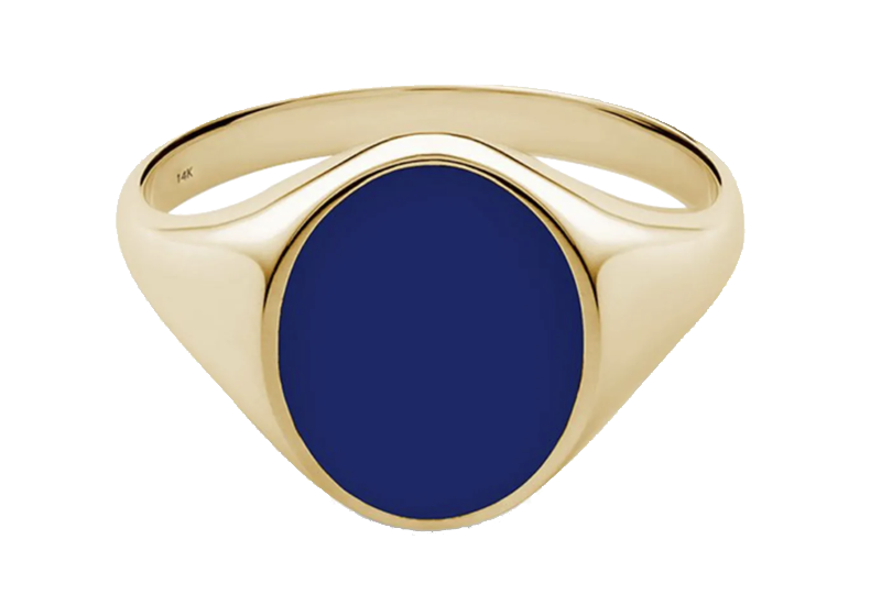 Miansai Heritage Gold-Plated and Enamel Signet Ring
