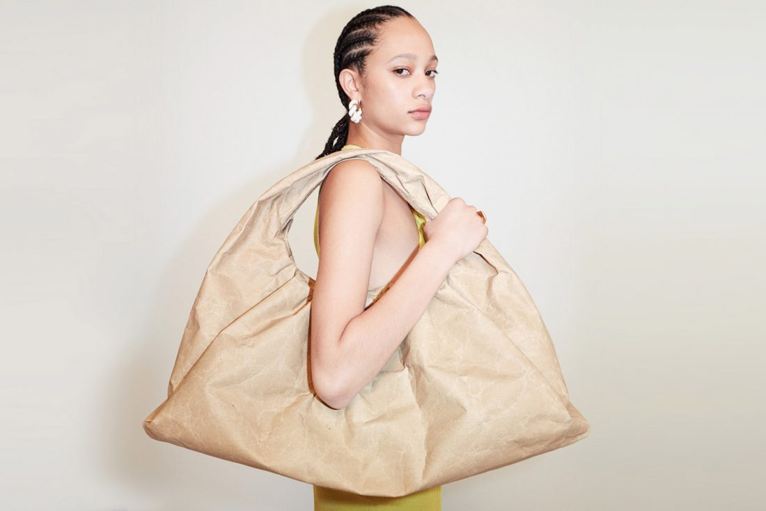 Bottega Veneta's next sustainable step is a bag collection made of recycled paper