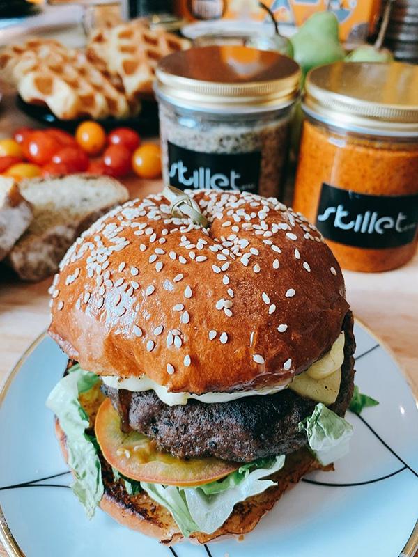 Skillet at 163 burger delivery