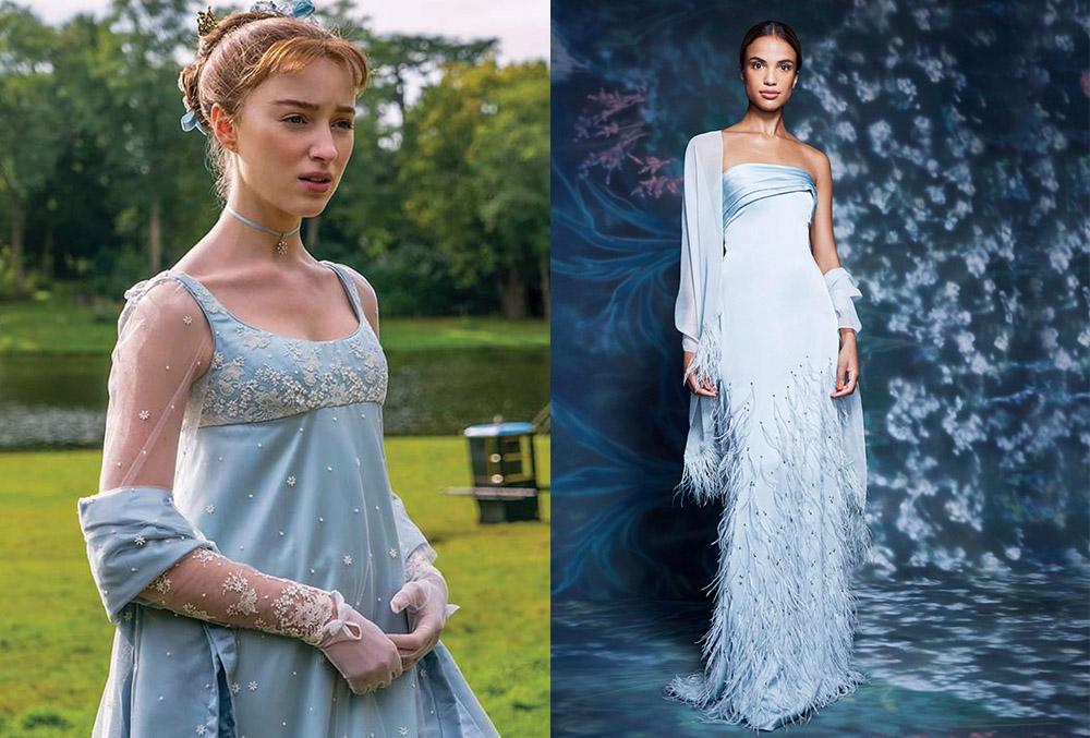 Daphne Bridgerton's powder blue garden dress