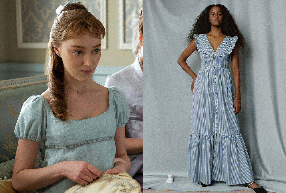 Daphne Bridgerton's blue day dress