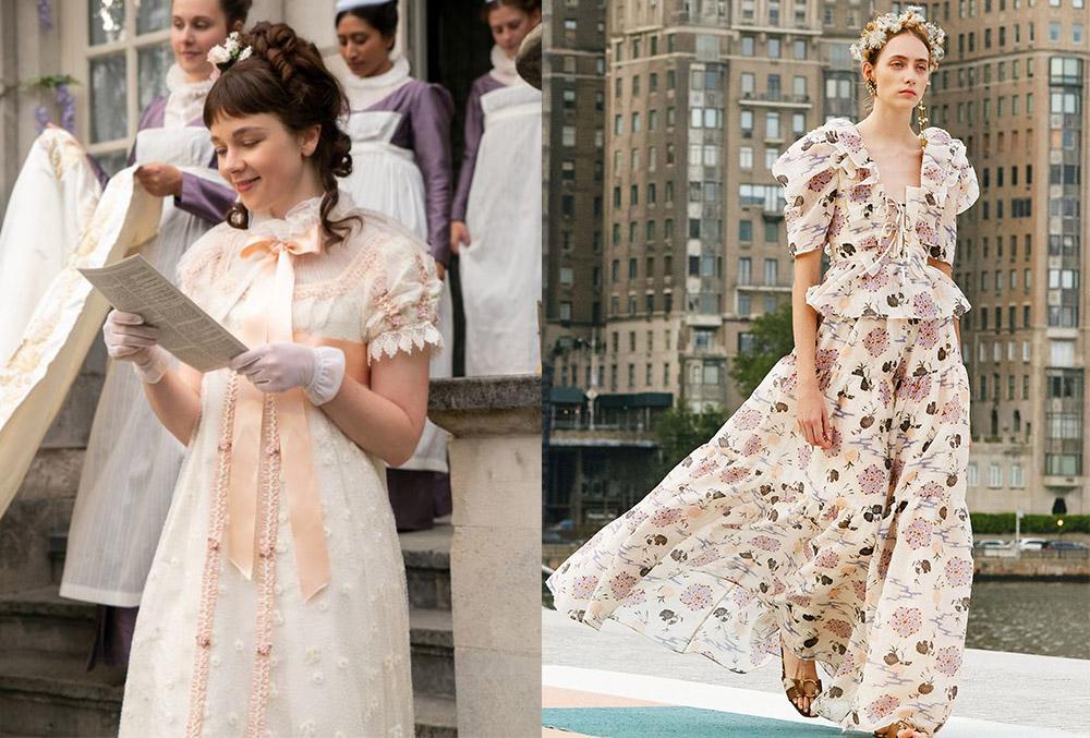 Eloise Bridgerton's presentation dress for Daphne's debut