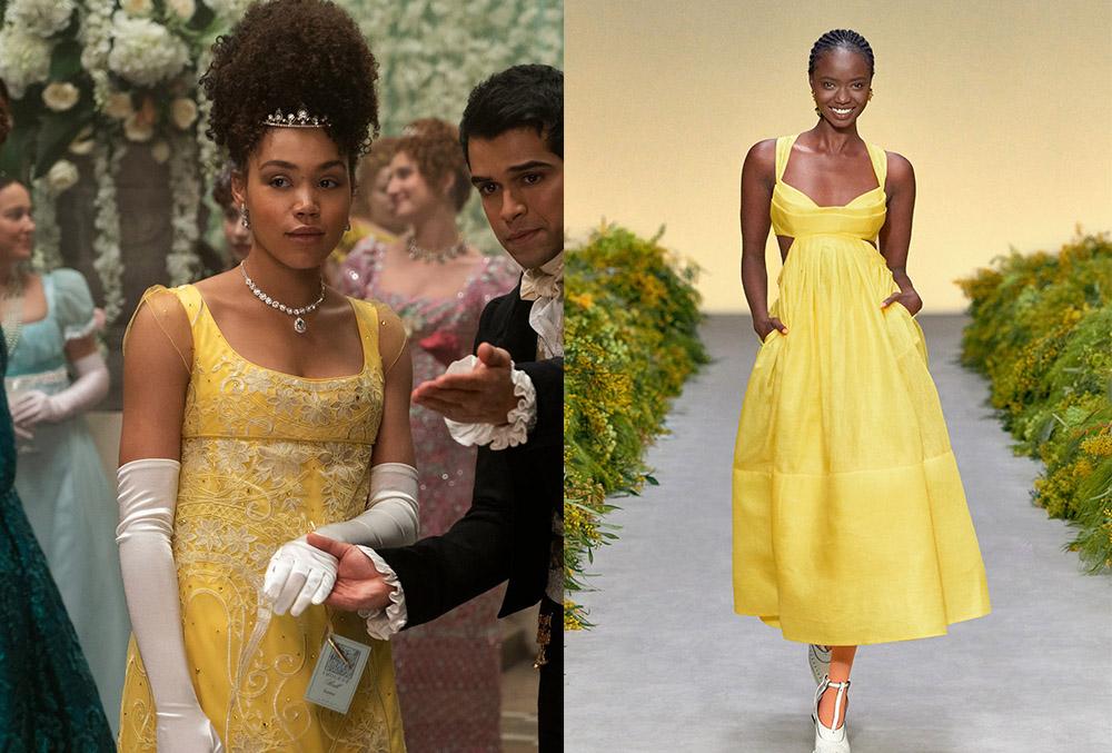 Marina Thompson's yellow ball gown