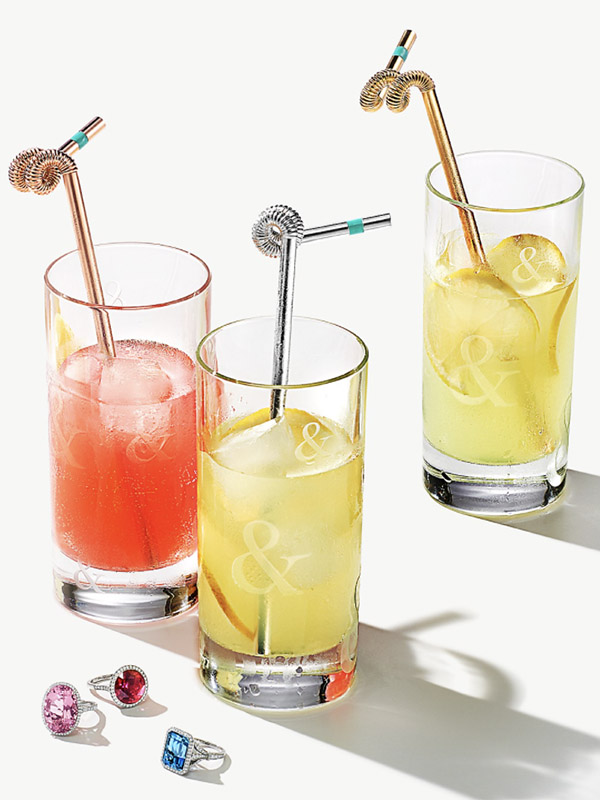 Tiffany & Co. Everday Objects gold vermeil crazy straw
