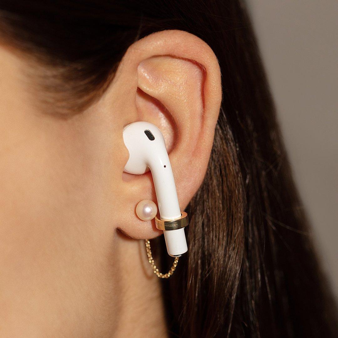 Delfina Delettrez Pearl Sonic Earpod Earrings
